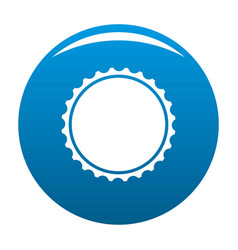 Beer cap icon blue vector