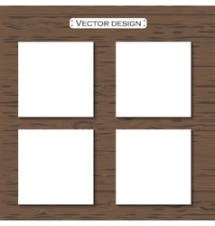 blank paper template on a background vector image vector image