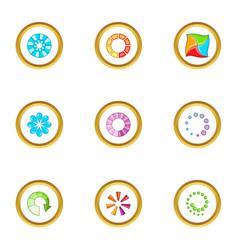 circular downloading icons set cartoon style vector image vector image