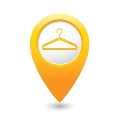 clothers hanger icon pointer yellow vector image vector image
