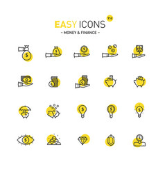 easy icons 11d money vector image vector image