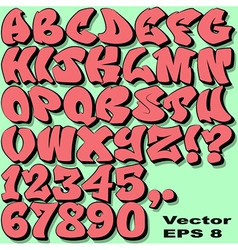 Graffiti Letters and Numbers vector image vector image