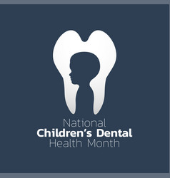 national children dental health month icon design vector image vector image