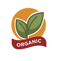 organic food fresh from farm label vector image