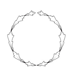 vintage frame on white background vector image vector image