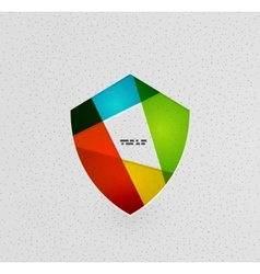 Colorful protection shield paper concept vector image