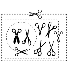 cutting scissors and coupon vector image