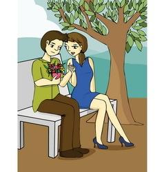 Valentine s day cartoon vector image