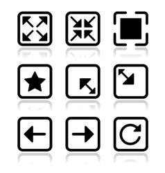 Website navigation icons set vector image vector image