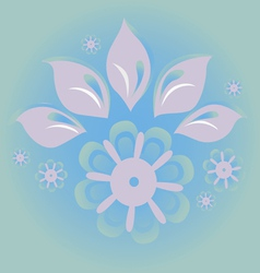 ice blossom vector image vector image