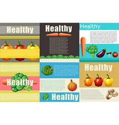 Infographic design with healthy food vector image
