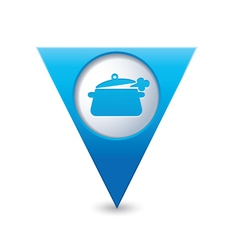 Pan symbol on marker blue vector