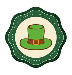 Sticker hat accessory st patrick vector