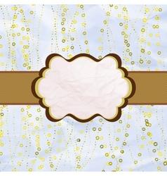 Valentines vintage card vector image vector image