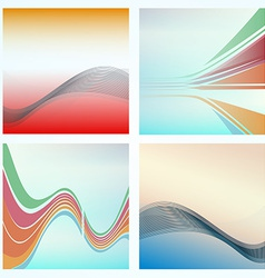 Abstract background of colorful waves vector image vector image