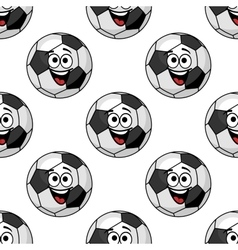 Cartoon football balls seamless pattern vector image vector image