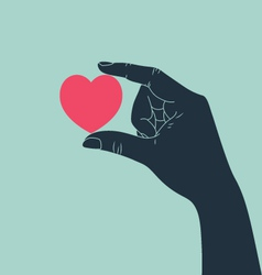 hand with love vector image vector image