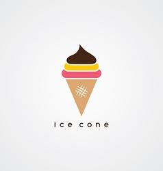 ice cream cone logotype vector image