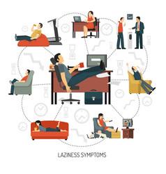 laziness symptoms infographics vector image vector image