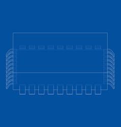 3d microchip rendering vector