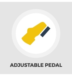 Adjustable pedal flat icon vector