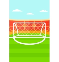 Background of soccer stadium vector image