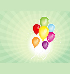 Balloons party for carnival and holidays vector