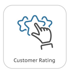 Best choice line icon vector