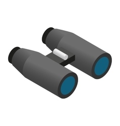 Binoculars isometric 3d icon vector