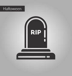 Black and white style icon halloween grave vector