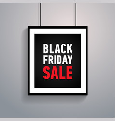 black friday sale poster on grey background vector image