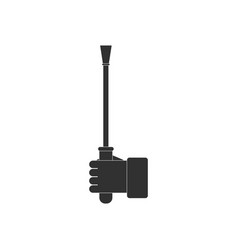 Black icon on white background sex stick in hand vector
