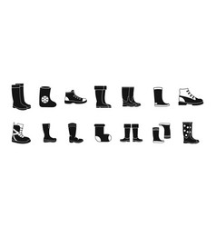 Boots icon set simple style vector
