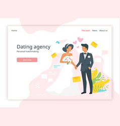 bridal agency homepage vector image