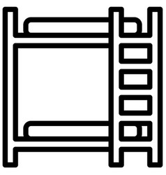 bunk beds icon with outline style eps10 vector image