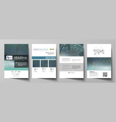 business templates for brochure flyer booklet or vector image