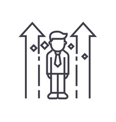 career uppersonality line icon sign vector image