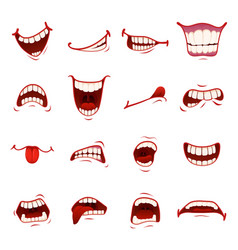Cartoon mouth with teeth vector