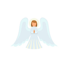 Christmas angel icon flat style vector