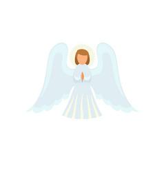 Christmas angel icon flat style vector