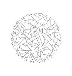 Circle of random lines vector