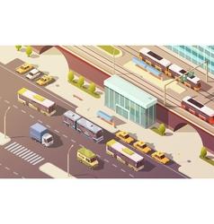 City Transport Isometric vector