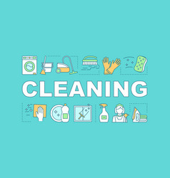 Cleaning word concepts banner vector