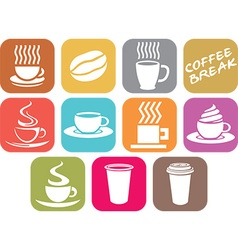 Coffee Cup Icon Set vector image