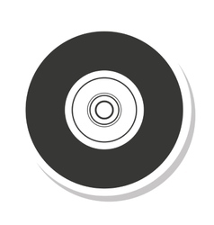 disk compact isolated icon vector image