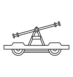 Draisine or handcar icon outline style vector
