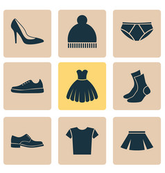 dress icons set collection of sarafan casual vector image