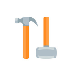 flat hammers vector image