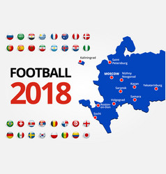 Football 2018 europe qualification all groups vector