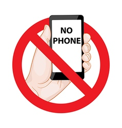Forbidding Signs No Phone vector image